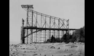 Pont de Québec au début de sa construction