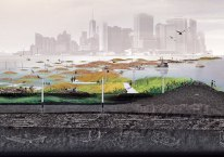 "De Gowanus (Brooklyn) jusqu'à Manhattan: barrière en ""swamp"""