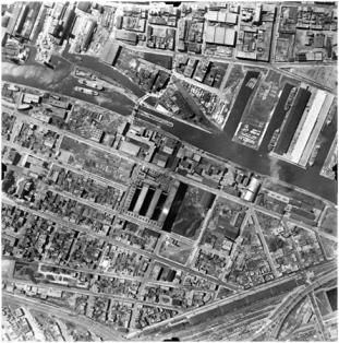 Les alentours du Canal de Lachine en 1947. Archives de la Ville de Montréal, VM97-3_7P6-24