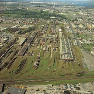 1969, Site du Canadien Pacifique, Ateliers Angus, Archives de la Ville de Montréal, VM94-B66-005