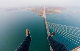 À vos pieds: le Golden Gate Bridge de San Francisco