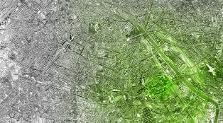 Rayonnement vert autour de la tour de la biodiversité M6B2, Paris, Edouard François