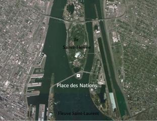 Localisation Place des nations sur l'île Sainte-Hélène