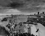 Inauguration de l'Exposition Universelle de 1967, Place des nations