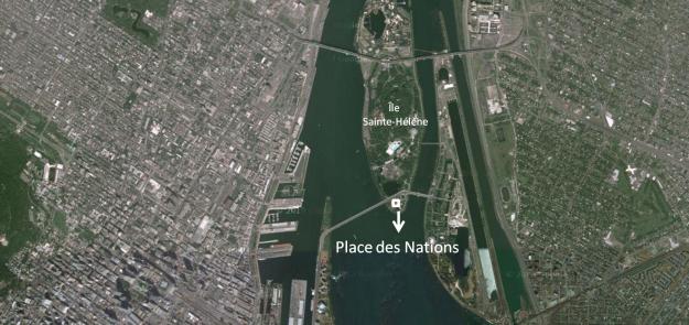Localisation de la Place des nations