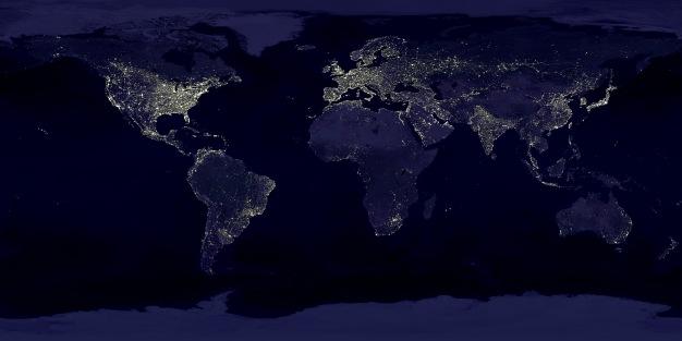 nuit Le monde vu du ciel