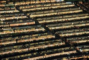Quartier populaire de Belfast, province d'Antrim, Irlande du Nord (Ulster), Royaume-Uni (54°35'N - 5°55'O)