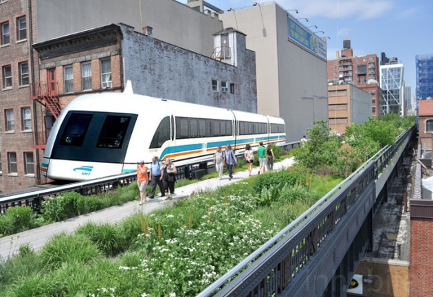 High-Line-Fake-Train