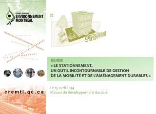 Lancement guide stationnement CRE-Montréal Félix Gravel