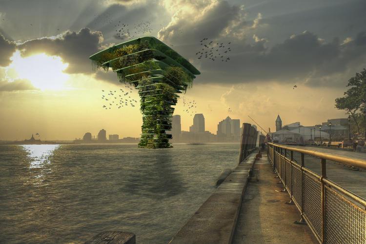 Des tours v g tales flottantes pour la faune urbabillard for Architecture vegetale
