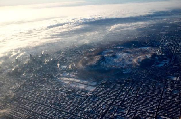 Le centre de Montréal vu du ciel