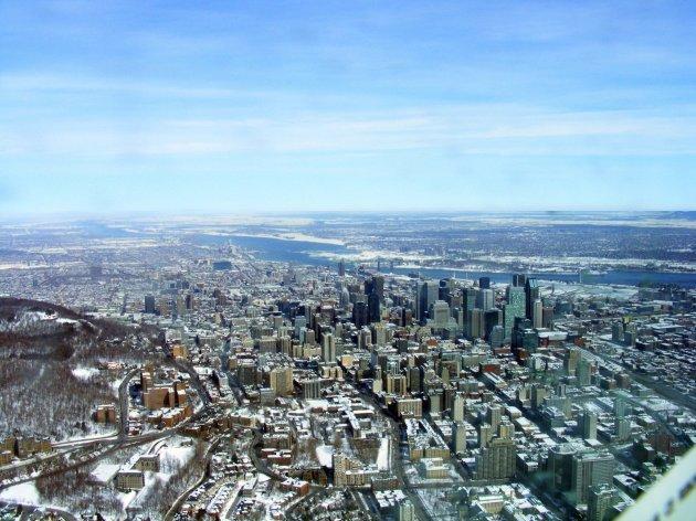 Montréal d'Ouest en Est du Mont-Royal