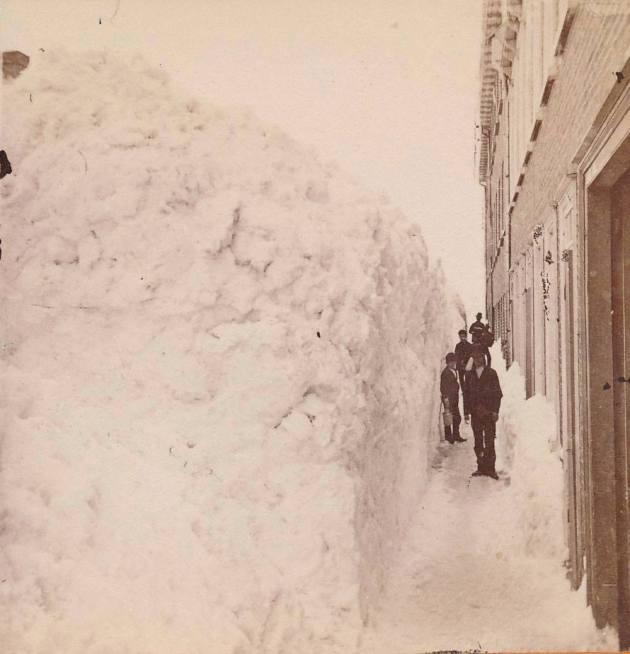La ville de Québec en hiver, vers 1870