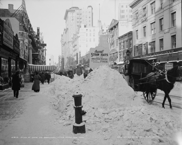 New York After a Big Snowstorm 1905 ph Detroit Photo Library of Congress