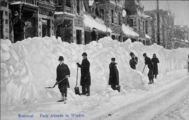 Park Avenue after a giant storm back in the 1910s.