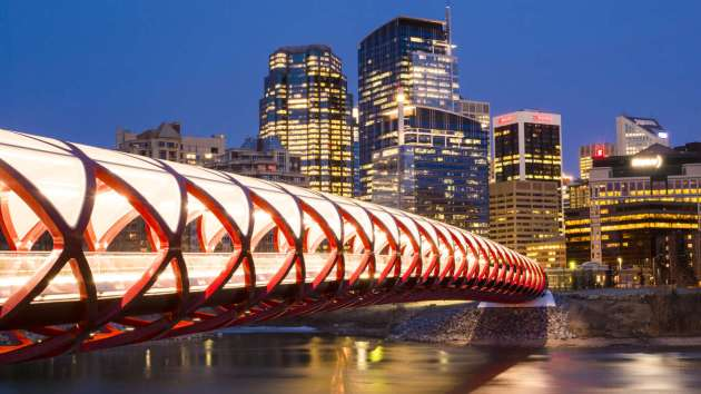 Calgary Canada Peace Bridge. Chris Bolin