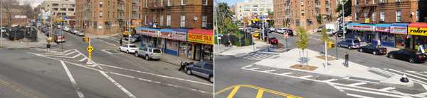 Public space, the finite frontier. Finding new room for people to walk safely on Macombs Road, Bronx #tbt streets