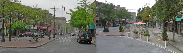 You want foot traffic, not car traffic. The road to better business starts with a plaza. #tbt streets Ridgewood QNS